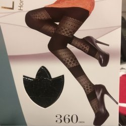 Floral Pattern Women High Waist Black Stocking Socks