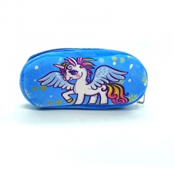 Littledesire Unicorn Faux Fur Pencil Case - 8 inch