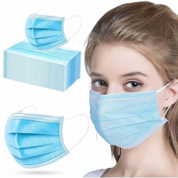Disposable 3-Ply Surgical Face Mask Mouth Cover - 100 Pcs