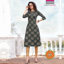 Printed Boat Neck Straight Kurta