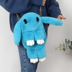 Cute Cartoon Rabbit Fluffy Bunny Crossbody Chain Bag