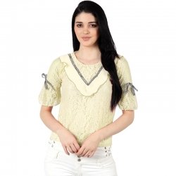 Littledesire Beautiful Neck Lace and Ribbon  Fashion Top