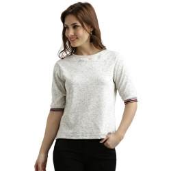 Boat-Neck Solid Being Basic Top