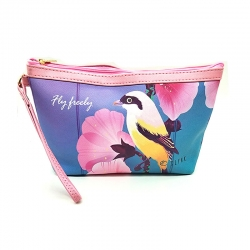 Littledesire Printed Birds Toiletry Organizer Bag