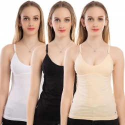 Adjustment Cotton Seamless Bra Slip Pack of 3
