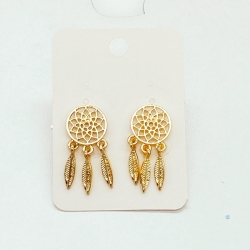 Round Shape Leaf Design Earrings