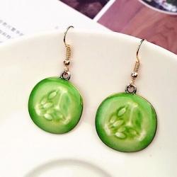 Cute Fruit Cucumber Earrings
