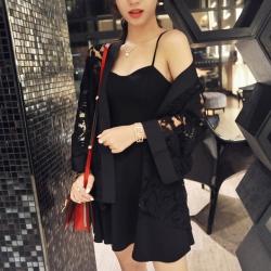 Floral Lace Cotton Kimono Shrugs Jacket