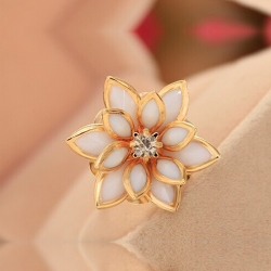 Lotus Flower Adjustable Ring