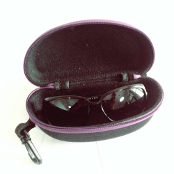 Purple Zipper Sunglasses Case Cover