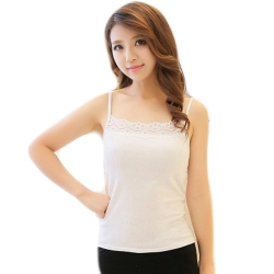 Cotton Stretchable Spaghetti With Lace