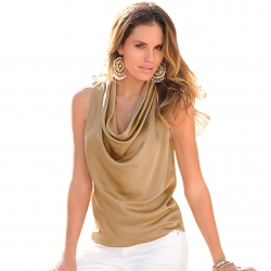 V Neck Casual Sleeveless Top