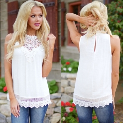 Lace Vintage Sleeveless Tops
