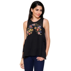 Littledesire Embroidered Side Open Cotton Top