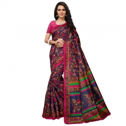 Littledesire Kashmiri Silk Printed Saree With Blouse
