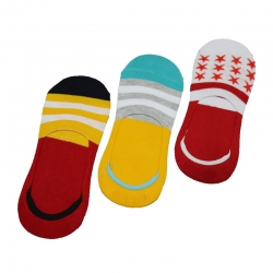 Cotton No-Show Loafer Socks - 3 Pairs