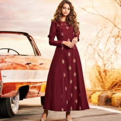Littledesire Latest Design Embroidered Work Gown