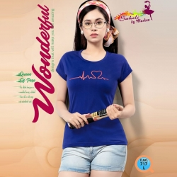 Littledesire Pink & Blue Cotton T-Shirt