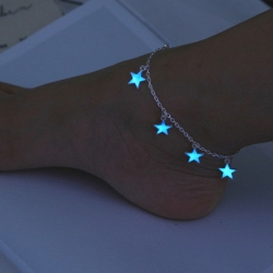 Littledesire Blue Star Chain Foot Anklets
