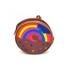 New Fashion Cute Donuts Silicone Mini Coin Wallet - 4 inch