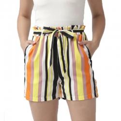 Multi-Color Striped Print Shorts