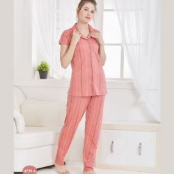Printed Short Sleeve Top & Pajama Cotton Night Suit