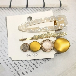Style Pearl Crystal Hairpin 3Pcs/Set For Girl