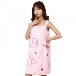 Wearable Fast Drying Clothes Soft Microfiber Bath Towel Bathrobes
