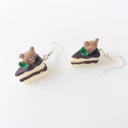 Cute Food Cake Drop Earrings For Girls