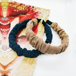 Glitter Ruched Ruffled Hairband Pack of 2