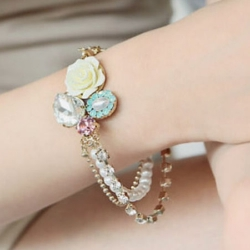 Fashion Elegant Crystal Cuff Bracelet