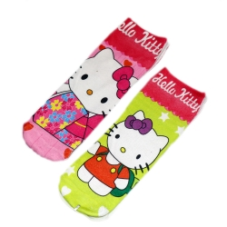 Cute Hello Kitty Socks for Kids 6 to 13 Years - 2 Pairs