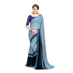 Chiffon Printed Weightless Saree With Blouse