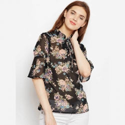 Georgette Floral Printed Women Top