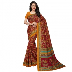 Littledesire Kashmiri Silk Printed Saree With Blouse