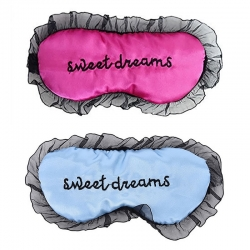 Sweet Dreams Pink & Blue Silk Sleep Eye Mask (Pack of 2)