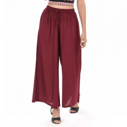 Littledesire Burgundy Palazzo With Side Pocket