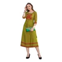 Littledesire Straight Embroidered Stitched Kurta