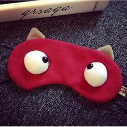 Littledesire Cute Frog Eye Short Plush EyeMask