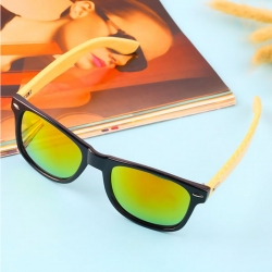 Bamboo Frame Retro Sunglasses