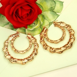 Littledesire Two Circle Hoop Golden Earrings