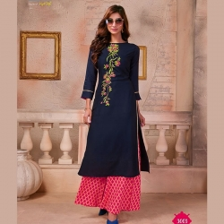 Littledesire Embroidered Work Designer Kurta With Palazzo