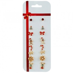 Littledesire Christmas Stud Earrings 8 pcs