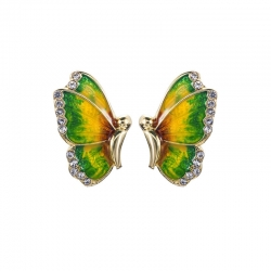 Fashion Crystal Rhinestone Butterfly Stud Earrings