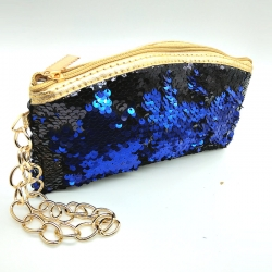 Littledesire Sequins Zipper Clutch Wallet 5 inch