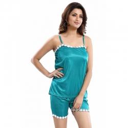 Lace Cami Top With Shorts Pajama Sleepwear Set
