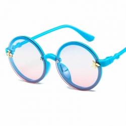 Round Unisex Kids Luxury Honey Bee Oversize Sunglasses