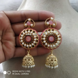 Fashion Jewelry Round Jhumka Earrings