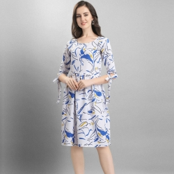 A-Line Style Crepe Digital Print  Loose Flare Dress
