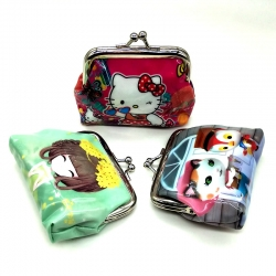Cute Cartoon Printed Handy Clutch Mini Wallet Pack Of (3 Pcs)